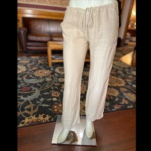 NWOT Juicy Couture Khaki Linen Drawstring Trousers